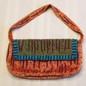 Christiana beaded, silk lined purse